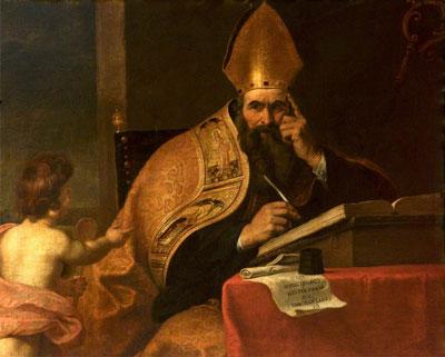 Gerard Seghers (attr) – Cei patru doctori a Bisericii Occidentale, Saint Augustine of Hippo (354–430)