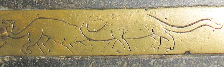 Gravură de alama pe mormântul episcopului Richard Bell, care a murit în 1496, Catedrala din Carlisle, Marea Britanie