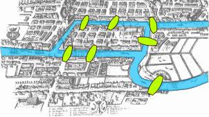 Harta orașului Königsberg în vremea lui Euler