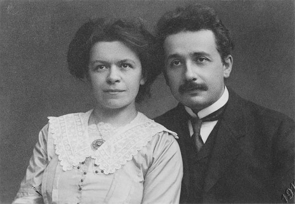 Milena Marić Einstein și soțul ei, 1912.