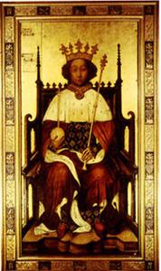 Figura 1: Richard al II-lea al Angliei, portret de încoronare, Abadia Westminster Abbey.