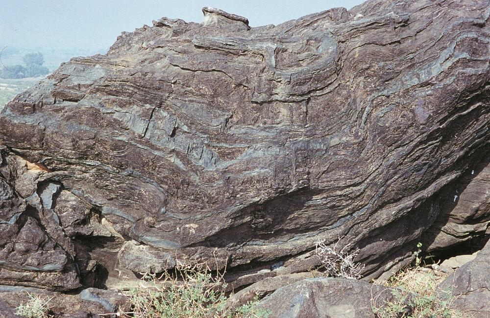 Imagine 11: Deformare de argilit Jaipur, Rajastan, India.